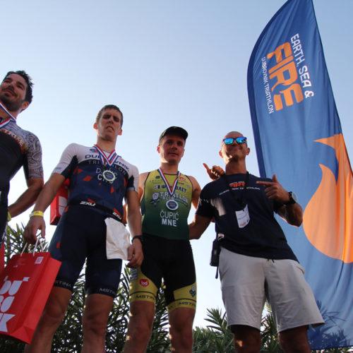 Triathlon Dubrovnik male medalists 2018