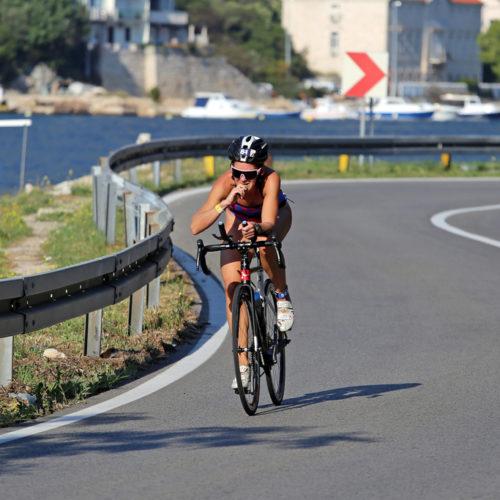 Triathlon Dubrovnik port bikers curve sustjepan 2018