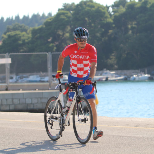 Triathlon Dubrovnik port bikers startpoint Croatia 2018