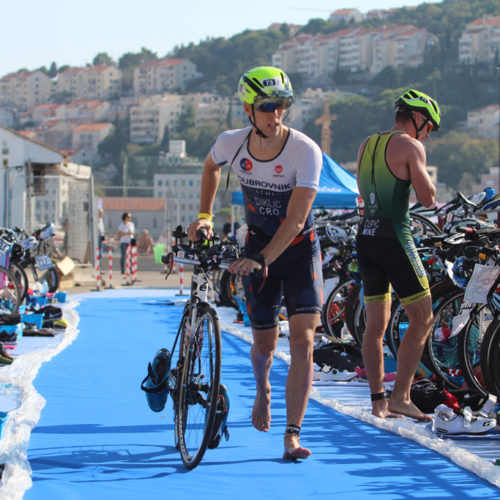 Triathlon Dubrovnik port bikers startpoint Diklic 2018
