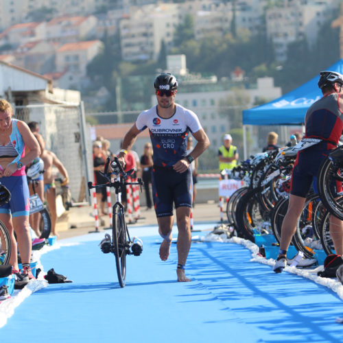Triathlon Dubrovnik port bikers startpoint Duro 2018