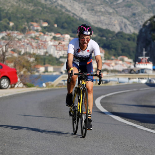 Triathlon Dubrovnik port single biker sustjepan 2018