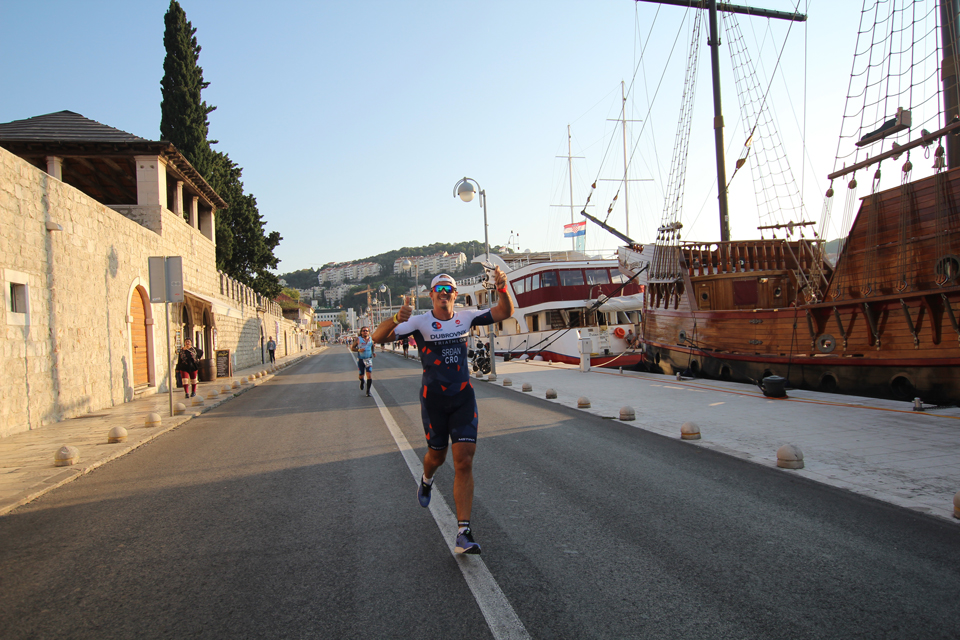 SPRINT Distance Triathlon 5 km Run in Dubrovnik, Croatia, Europe