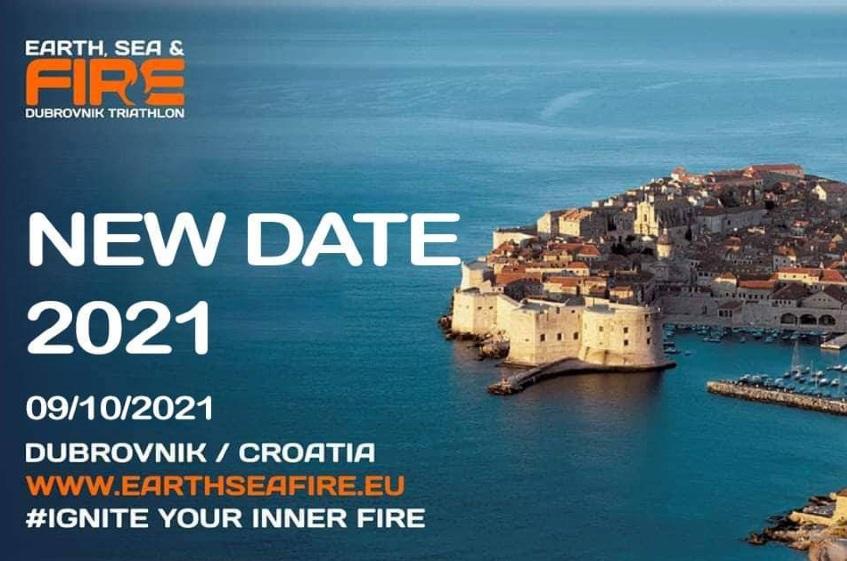 New date –  Earth, Sea & Fire Triathlon Dubrovnik 2021